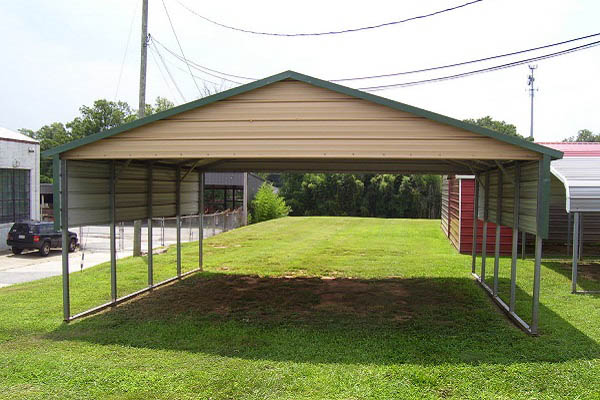 Boxed Eave Roof Style Carport