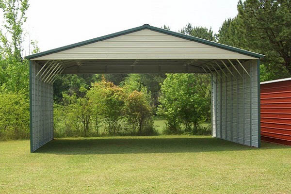 Vertical Roof Style Carport