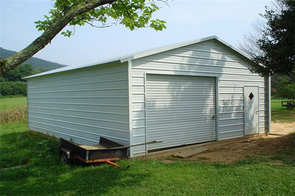Boxed Eave Roof Style Garage