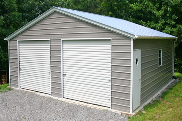 Vertical Roof Style Garage